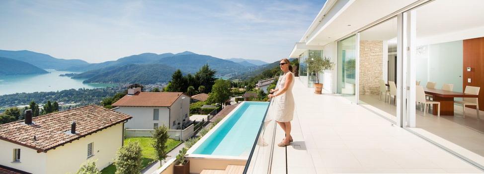Частная вилла с видом на озеро Лугано в Швейцарии